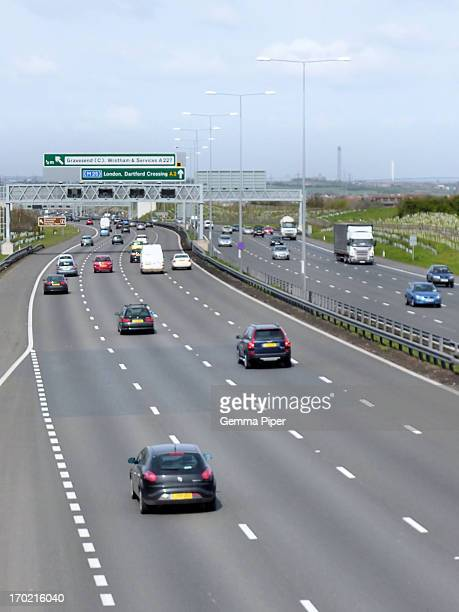 The A2 road, motorway, busy commuting roadway for work, friends, families, shopping etc in Kent.