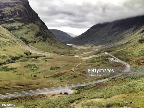 The A82 sweeps through Glencoe, Highlands of Scotland