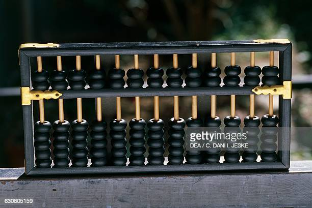 The abacus calculation tool invented during the Yuan Dynasty and still in use in China