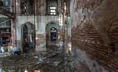 bangkok thailand abandoned building with visible
