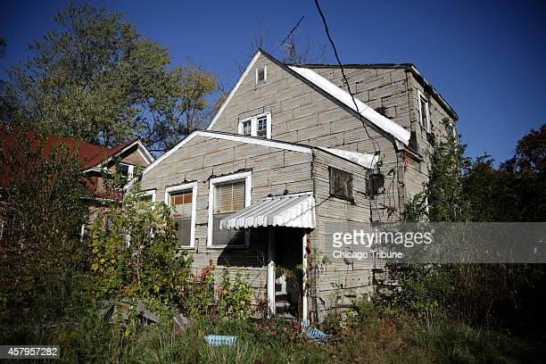The abandoned house at 413 E 43rd Ave in Gary Ind where a 43yearold man directed police to find the bodies of three women