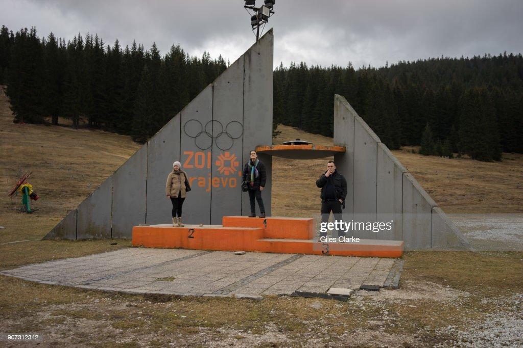 Medal Platform from Sarajevo. : News Photo