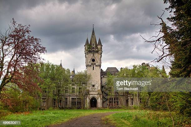 The abandoned neo-gothic castle of Chateau de Noisy. Located in Celles, southern Belgium.