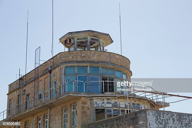 The abandoned Nicosia International Airport control tower on April 28, 2016 in Nicosia, Cyprus . On 27 March 1968 a modern new terminal, designed by...