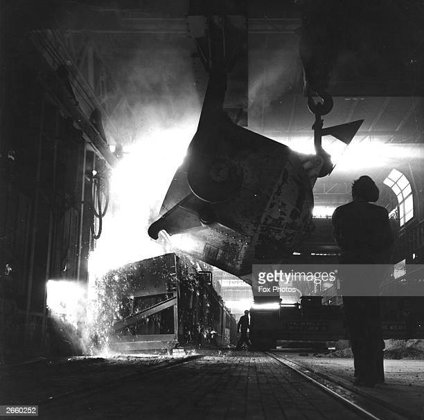 The Abbey Steelworks at Port Talbot in Wales