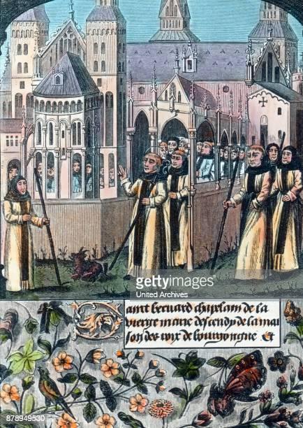 The abbot, crusade preachers, mystics and Cistercian monk Bernard of Clairvaux.