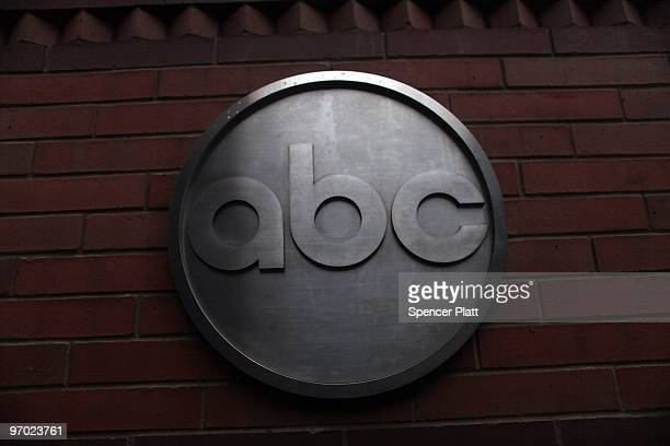 The ABC logo is viewed outside of ABC headquarters February 24 2010 in New York New York ABC has announced that the television news division plans to...