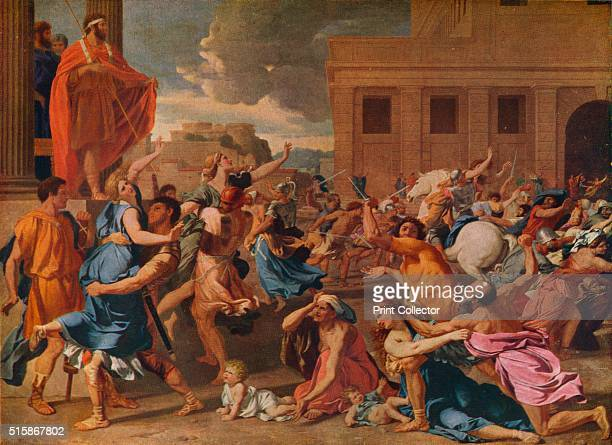 The Abduction of the Sabine Women' circa 1633 Painting held at The Metropolitan Museum of Art New York From The Connoisseur Volume LXXXIX [The...