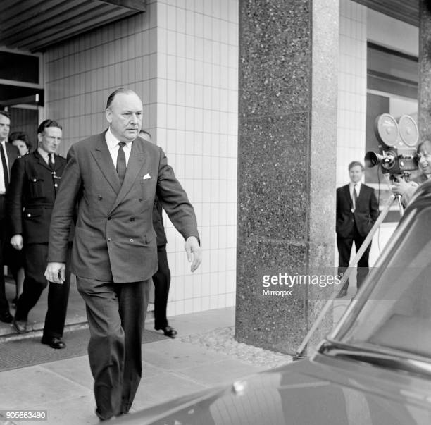 The Aberfan Tribunal Cardiff South Wales 20th April 1967 Lord Robens talks to the press at Cardiff today The Aberfan disaster was a catastrophic...