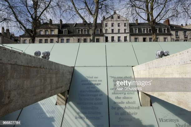 The Abolition of Slavery Memorial Museum in Nantes western France on March 23 2012 It will open to the public on March 25 Designed by polish artist...