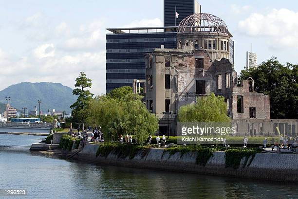 The A-bomb Dome, which survived the 1945 atomic bombing on Hiroshima, is within walking distance of the new Peace Memorial Park, dedicated for the...
