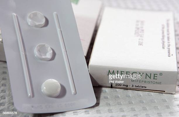 The abortion drug Mifepristone also known as RU486 is pictured in an abortion clinic February 17 2006 in Auckland New Zealand The drug which has been...