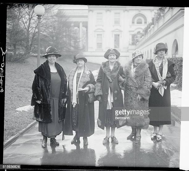 The above photo shows left to right Margaret Hinchey of New York an elevator operator Mrs Murray of New York President of the Women's League of the...