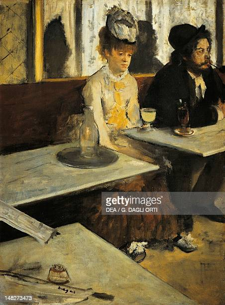 The absinthe drinker 18751876 by Edgar Degas oil on canvas 92x68 cm Paris Musée D'Orsay