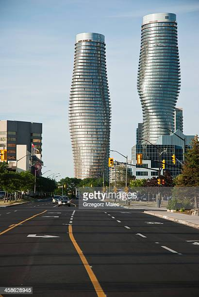 the absolute towers - mississauga stock pictures, royalty-free photos & images