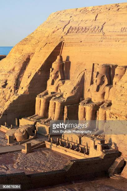 The Abu Simbel temple in Egypt