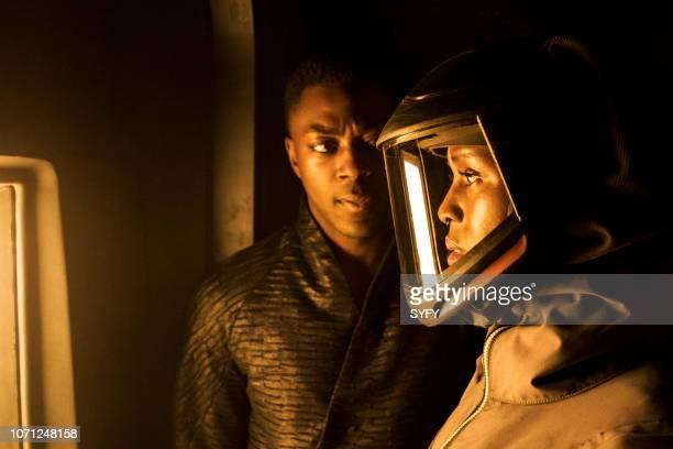 NIGHTFLYERS The Abyss Stares Back Episode 103 Pictured David Ajala as Roy Eris Jodie TurnerSmith as Melantha