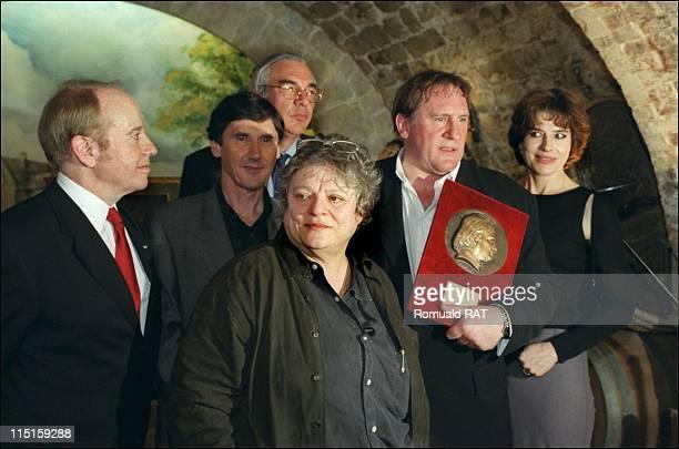The academy Balzac recompenses Gerard Depardieu in France on May 09, 2000 - Jean-Louis Bernicat, Jean-Pierre Guerin, Josee Dayan, Didier Decoin,...