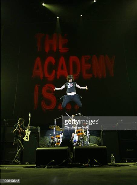The Academy Is during Fall Out Boy Honda Civic Tour at The Forum in Los Angeles California United States