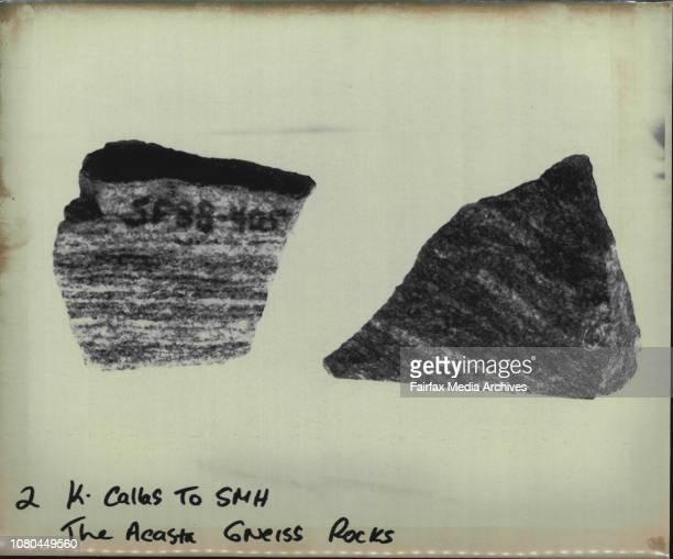 The Acasta Gneiss Rocks September 01 1989