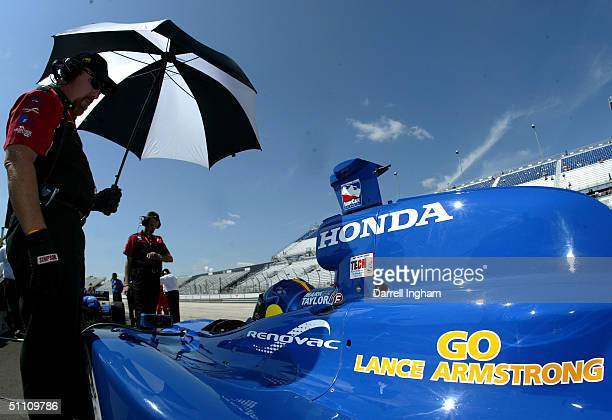 The Access Motorsport Racing Honda GForce of Mark Taylor carries the legend supporting Lance Armstrong on the Tour de France during practice for the...