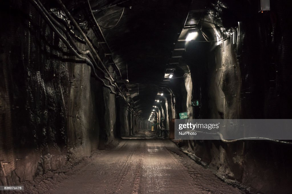The access tunnel of Posiva's spent nuclear fuel repository ONKALO in Olkiluoto, Eurajoki, Finland on 17 August 2017.
