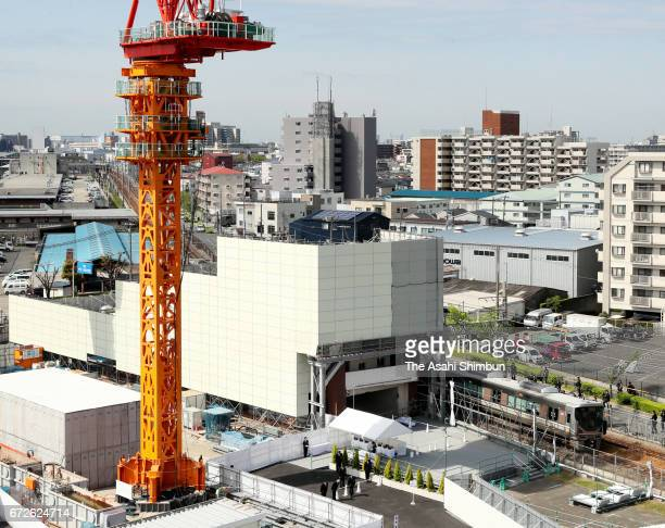 The accident site is seen on the twelveth anniversary of the train derailment accident on April 25 2017 in Amagasaki Hyogo Japan The worst train...