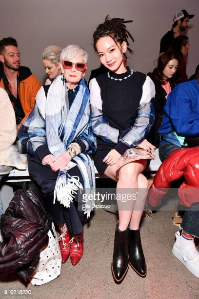 The Accidental Icon Lyn Slater and Tseng ChihChiao attend the Just In XX presentation during New York Fashion Week The Shows at Gallery II at Spring...