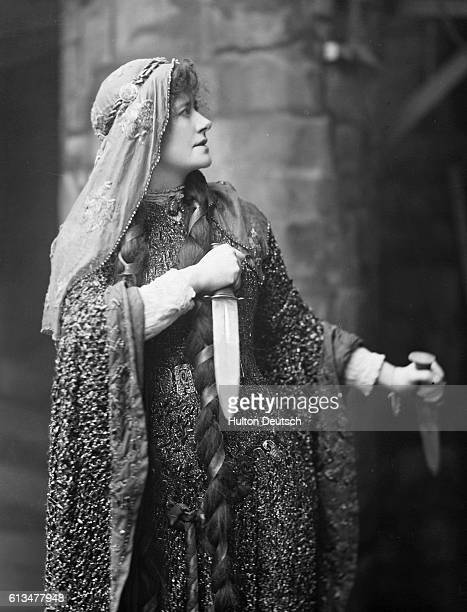 The acclaimed Victorian actress Ellen Terry in one of her most famous roles as Shakespeare's Lady Macbeth