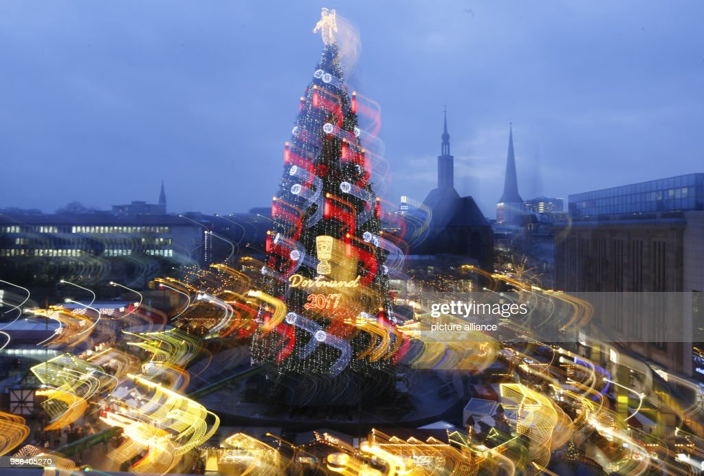 the according to the organisers biggest christmas tree in the world illuminates the christmas market in - Biggest Christmas Tree