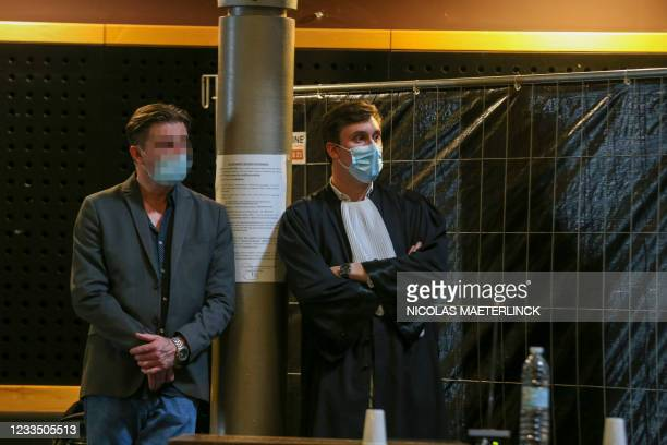 The accused and Lawyer Boris Druart pictured during the jury constitution session at the assizes trial of David Vens , before the Assizes Court of...