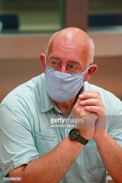 The accused Eric Flammang pictured during the constitution for the assizes trial of Eric Flammang, before the Assize Court of Luxembourg province in...