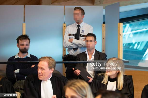 The accused Guus Wyns and The accused Sebastien Pierrard pictured during the jury composition for the assize trial of five accused for the robbery...