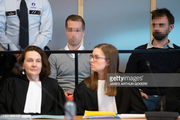 The accused Pieter Vermeersch and the accused Guus Wyns pictured during the jury composition for the assize trial of five accused for the robbery...