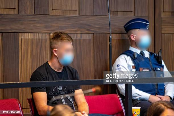 The accused Tommy Jonckheere pictured during the first day of the trial of Tommy Jonckheere , before the Assizes Court of West-Flanders, in Brugge,...