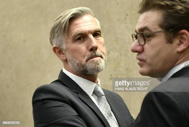The accused Walter Meischberger waits for the start of his trial concerning the commissions paid upon the privatization of the Buwog realestate...