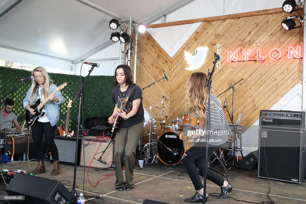 The Aces perform at the NYLON's Happiest Of Hours At #TwitterHouse at Bar 96 on March 13, 2017 in Austin, Texas.