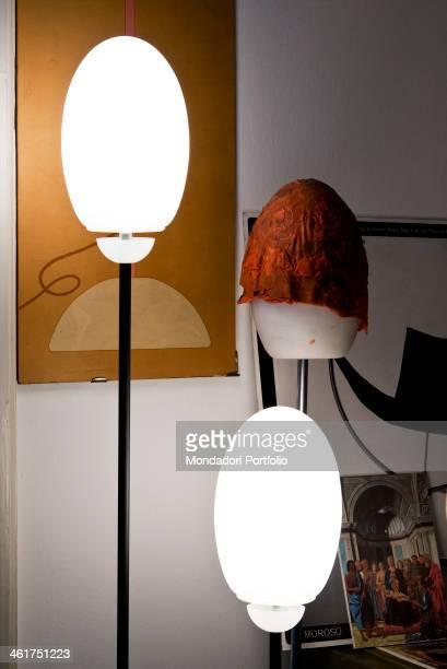 The Achille Castiglioni Studio Museum Detail of the Brera lamp inspired to the ostrich egg of the Pala Montefeltro by Piero della Francesca Milan...