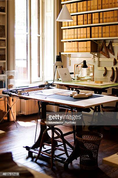 The Achille Castiglioni Studio Museum There are the drawing desk and the archive bookcase Milan Italy 2013