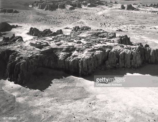 The Acoma Pueblo as seen from the air Acoma New Mexico 1927