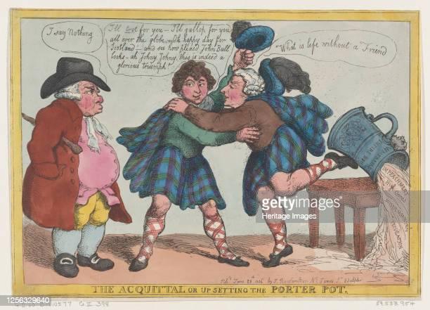 The Acquittal, or Upsetting the Porter Pot, June 20, 1806. Artist Thomas Rowlandson.
