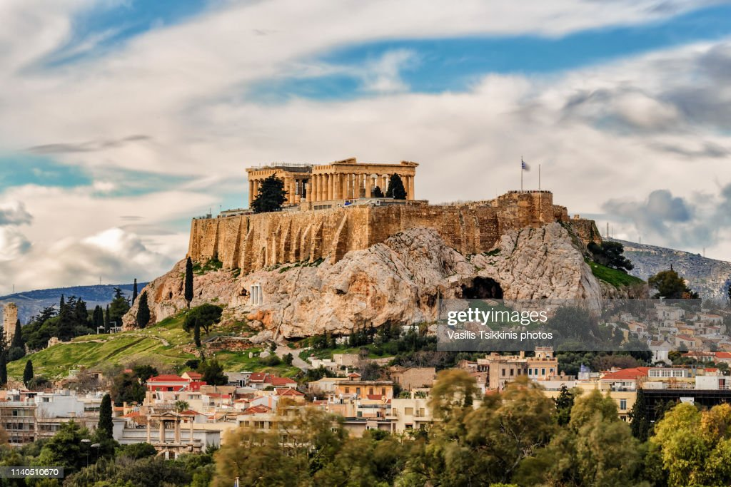The Acropolis and Plaka : ストックフォト