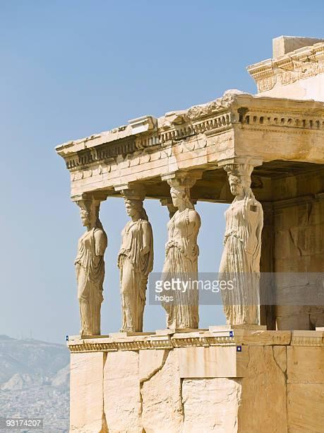 l'acropoli, erectheion - partenone atene foto e immagini stock