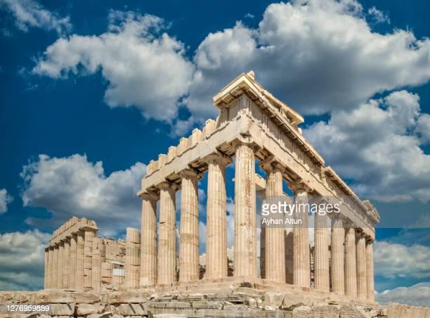 the acropolis of athens in greece - archeologia foto e immagini stock