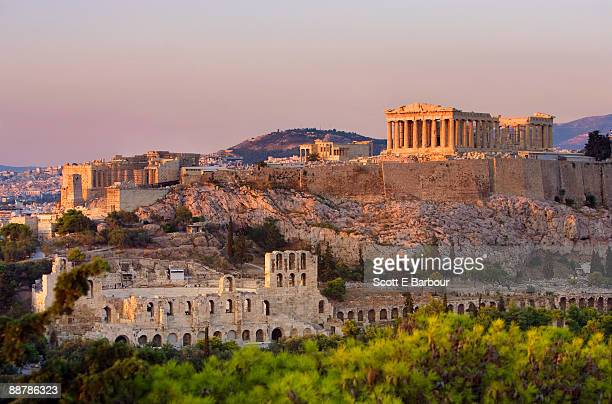 the acropolis of athens - grécia - fotografias e filmes do acervo
