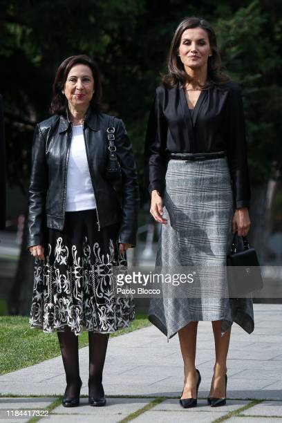 The acting Minister of Defence, Margarita Robles and Queen Letizia Of Spain attend 'Internaitonal Friendship Award' 2019 at IESE Campus on October...