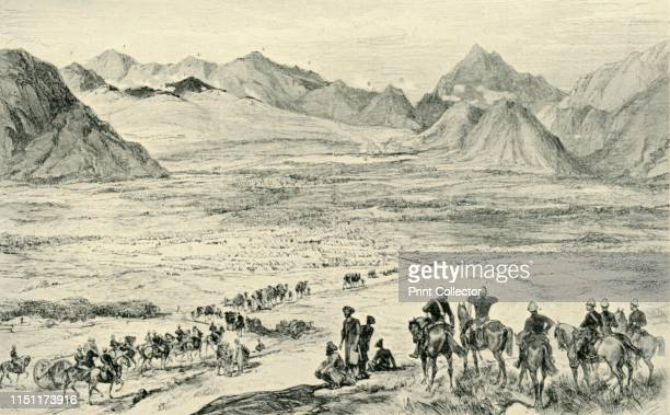 The Action on the Heights Above Charasia October 6 1879' The Battle of Charasiab near Kabul Afghanistan was fought between British and Indian troops...