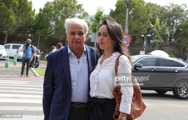 The actor Alberto Closas Jr is seen at the mortuary chapel of the actor Arturo Fernández at 'La Paz' funeral home on July 04 2019 in Madrid Spain
