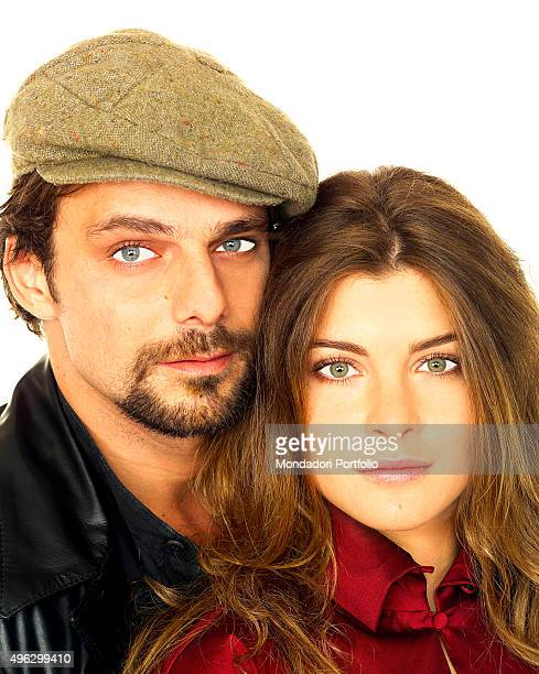 The actor Alessandro Preziosi and the actress Vittoria Puccini posing in a photocall for the TV series Elisa di Rivombrosa They wear clothes designed...