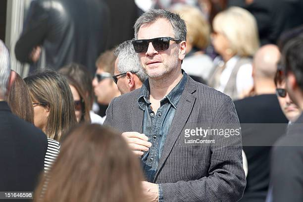The actor Alvaro Rudolphi attends the funeral of Blanca Vicuña Ardoahin daughter of Argentine model Pampita and Chilean actor Benjamín Vicuña who...
